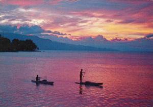 Twlight at Toba Lake , North Sumatera , Indonesia , PU-1988