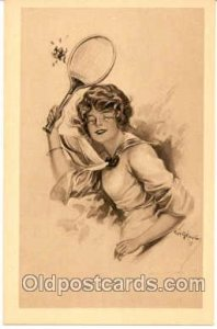 Tennis Postcard Postcards Unused