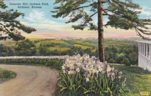 Kansas Atchison Guerrier Hill Jackson Park Curteich