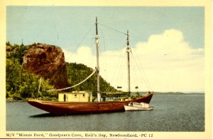 Canada - New Foundland, Hall's Bay. M/V Minnie Ford in Goodyears Cove