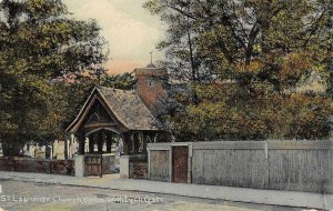 St. Laurence Church, Upton, Lynch Gate, Slough, England c1910s Vintage Postcard