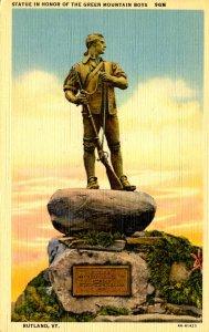 VT - Rutland.  Green Mountain Boys Statue