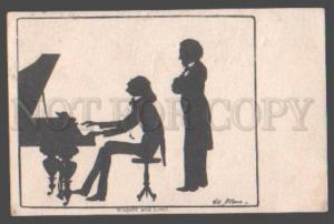 105532 LISZT & WAGNER Composer by Willi Bithorn Old SILHOUETTE