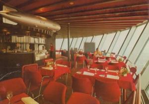 Schuler Zeppelin Drehrestaurant German Restaurant Postcard