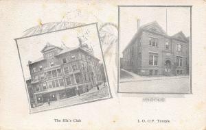 Youngstown Telegram Ohio~Elk's Club~IOOF Odd Fellows Temple~Art Nouveau 1908 PC