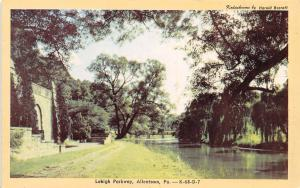 Allentown PA Parkway Path Along Little Lehigh Creek~Willow Trees 1940s Dexter