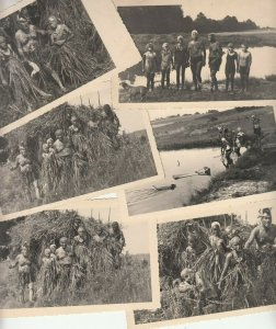 Lot 6 vintage real photo RING Koln postcards social history people tribal outfit