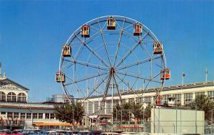 Coney Island NY~Steeplechase Park~Closeup~Ferris Wheel w/In-House Seating~1950s