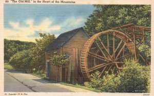The Old Mill in the Heart of the Mountains, Linen Vintage Postcard h3867