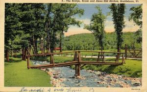 VT - Brattleboro. The Bridge, Brook and Ames Hill Birches