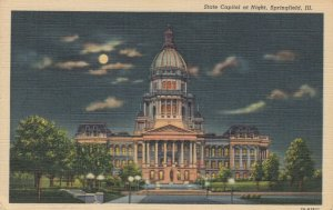 SPRINGFIELD, Illinois, 1947; State Capitol at Night