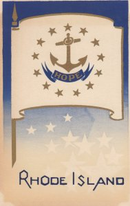 RHODE ISLAND , State Flag , 40-50s ; Serigraph