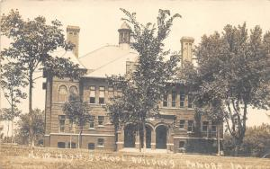 Panora Iowa~New High School Building~Triple Arched Doorway~1911 RPPC-Postcard