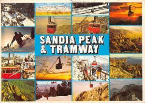 New Mexico, Albuquerque Sandia Peak & Tramway, ski, multiview souvenir sunset,