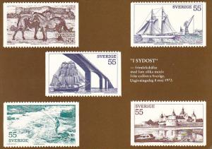 Stamps Of Sweden 1972 Issue In The South-East