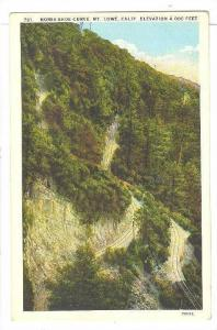 Air view, Horse Shoe Curve, Mt. Lowe,California,00-10s