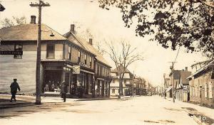 Chatham New Brunswick Canada Street View Storefronts RPPC Postcard