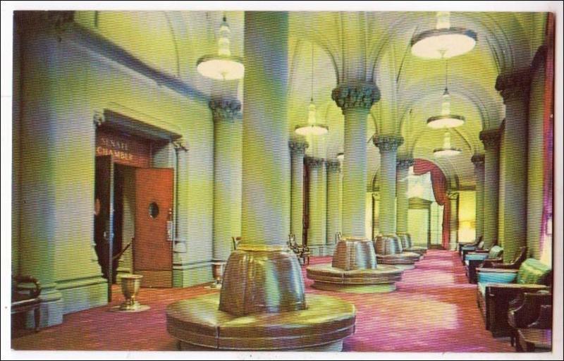 Gothic, Arched Senatee Lobby, State Capitol, Albany NY