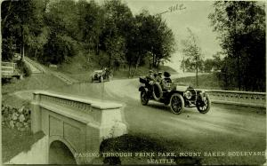 Seattle~Couples Take Joy Ride Over Bridge in Frink Park~Others Stop @ Steps 1914
