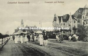 poland, ŚWINOUJŚCIE Solbad SWINEMÜNDE, Promenade und Kurhaus (1910s)