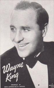 Vintage Mutoscope Card Wayne King
