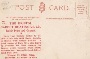 Bristol Park Row Carpet Cleaners Scotch Dyers Advertising Postcard