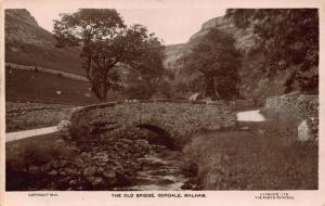 Malham The Old Bridge Gordale River Postcard