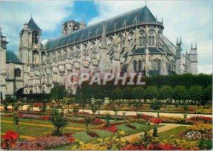 Modern Postcard Bourges (Cher) La Cathedrale Saint Etienne Les Jardins de l'E...