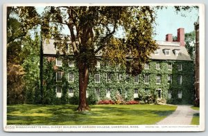 Cambridge Massachusetts Hall Ivy~Harvard College~Detroit Publishing #6158~c1910