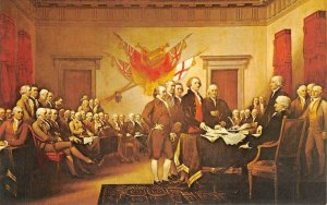 Declaration of Independence Signing Trumbull Painting 1975 Vintage Postcard