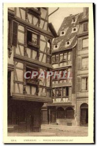 Postcard Old Strasbourg On the suckling pigs Delhaus