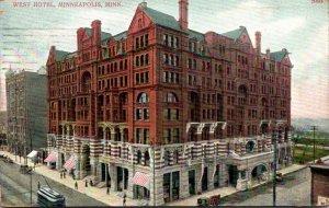 Minnesota Minneapolis West Hotel 1907
