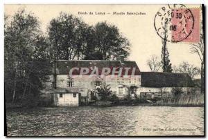 Postcard Old water mill Bords du Loiret Moulin Saint Julien