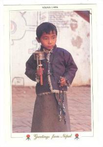 Young Lama , Boudha , NEPAL , 70-80s
