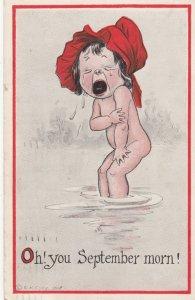 September morn & September Eve! Postcards , 1913