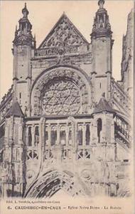 France Caudebec-En-Caux Vielles Eglise Notre Dame La Rosace