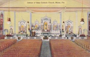 Florida Miami Interior Of Gesu Catholic Church 1952