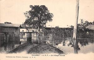 Dahomey Benin A.O.F. - Un Village Inonde, Flooded