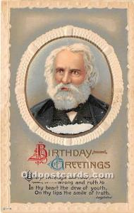 Birthday Greetings Longfellow Unused