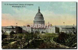Old Postcard U S Capitol From Library Of Congress Washington D C.