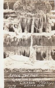 Grafton´s After The Fire, Below Zero, February 12, 1917, Hamilton, Ontario, Cana