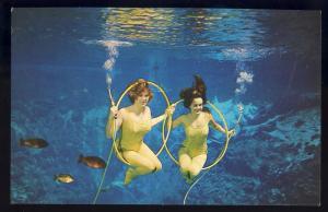 Weeki Wachee, Florida/FL Postcard, 'Ballin The Jack', Mermaids