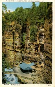 NY - Ausable Chasm. Table Rock, Cathedral and Sentinel Rocks