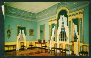 Banquet Hall Mount Vernon George Washington House Interior Design Postcard VA