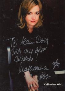 Katharina Abt German Actress Hand Signed Photo