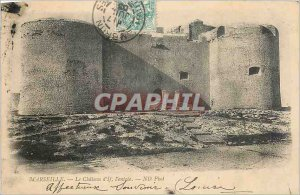 Old Postcard Marseille Le Chateau d'If the Entree