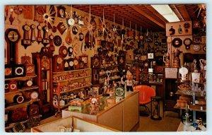 SACRAMENTO, CA ~ Interior THE CLOCK SHOP ~ J Strret & El Paseo Lane Postcard