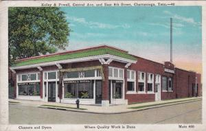 CHATTANOOGA,Tennessee, 00-10s; Kelley & Powell, Cleaners and Dyers, Corner Lot