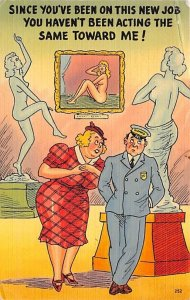 Offficer with Naked Women Pictures and His Wife Comic Occupation, Policeman U...