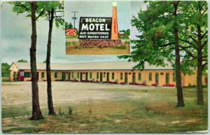 Waynesboro, Georgia Postcard BEACON MOTEL Route 25 Roadside Chrome / 1957 Cancel